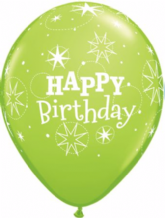 Birthday Sparkle Green - 11 Inch Balloons 25pcs